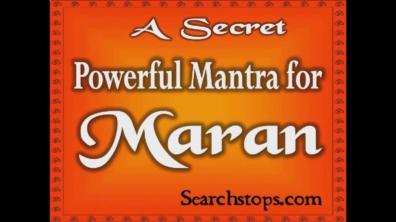 Maran Mantra  Enemy Mantra - Destroy your enemy   Maran Mantra for Removing Maran Mantra To Kill Enemies Maran